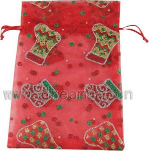 Christmas Organza Bag Socks